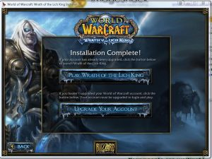 wotlk 3.3.5a client install complete