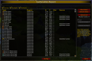 Gatherer wow addon
