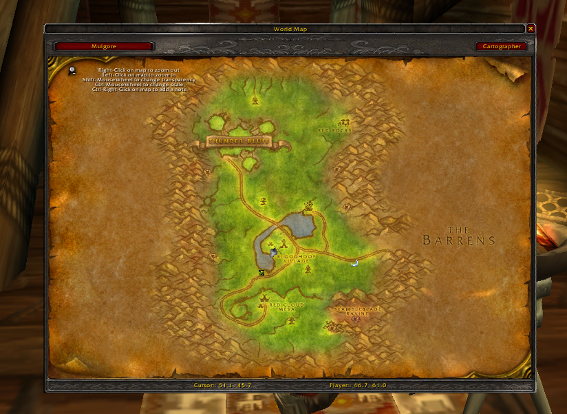 wow cartographe burning crusade