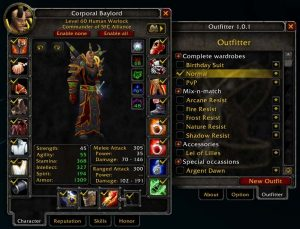 outfitter wow addon