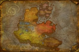 wow tbc outlands map