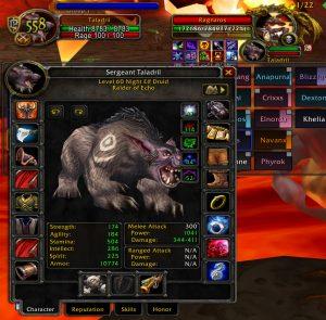 Ragnaros - Vanilla WoW Druid Tank Guide Stats