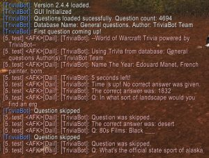 TriviaBot - TBC, WotLK Addon